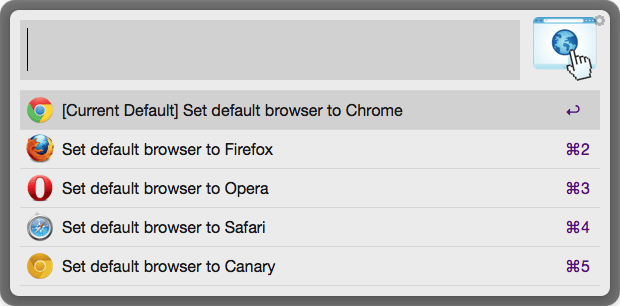 DefaultBrowser Example Screenshot 1 - List Installed Browsers