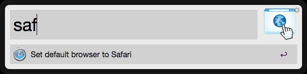 DefaultBrowser Example Screenshot 2 -  Set Safari as Default