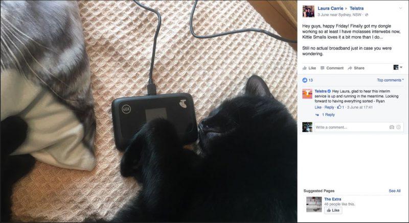 Kitty Smalls Vs Telstra Part 10 - Kitty Smalls gets a interwebs dongle