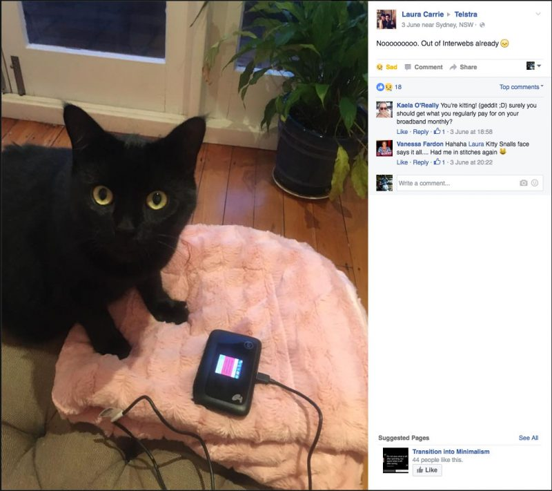 Kitty Smalls Vs Telstra Part 11 - Kitty Smalls is out of data
