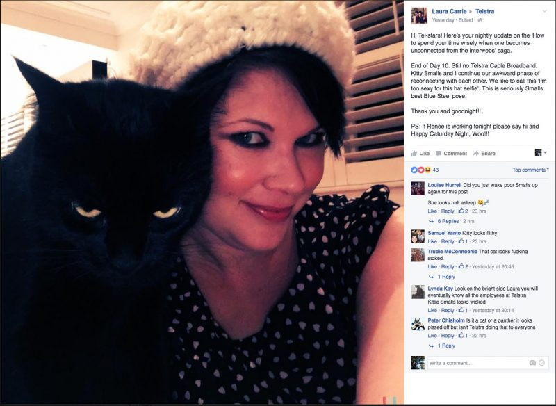 Kitty Smalls Vs Telstra Part 13 - Kitty Smalls Poses with Laura