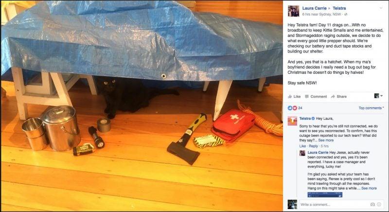 Kitty Smalls Vs Telstra Part 15 - Kitty Smalls battens down the hatches